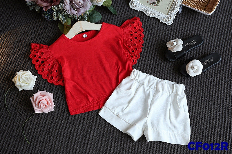(CF012R) Girl Set - Red