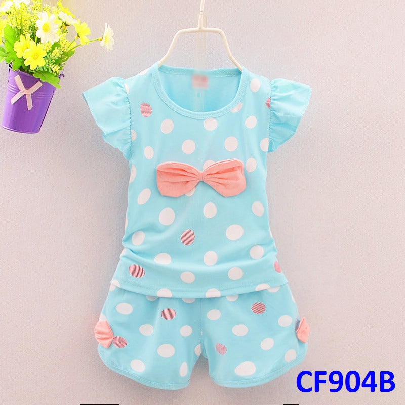 (CF904B) Set - Polka Dots Ribbon Blue