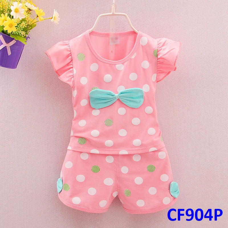 (CF904P) Set - Polka Dots Ribbon Pink