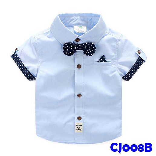 (CJ008B) Shirt - Blue Bowtie