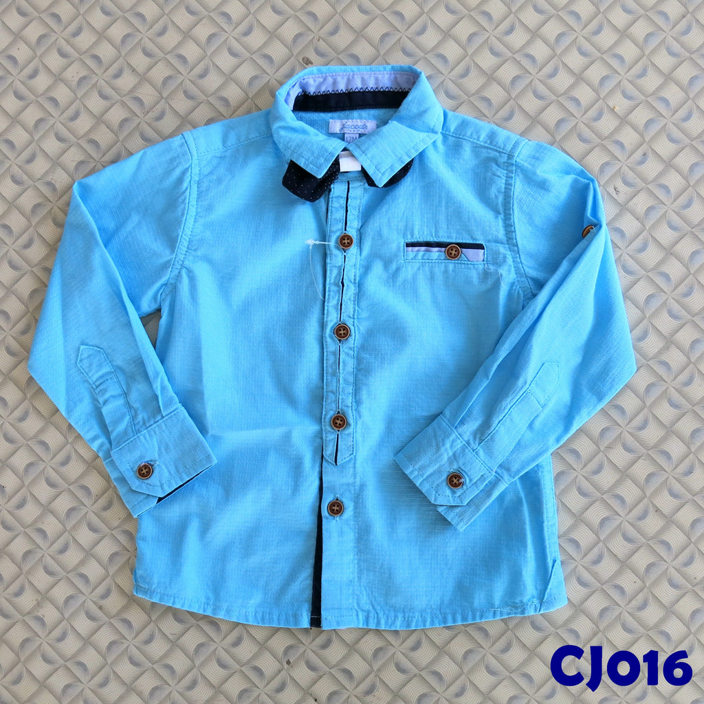 (CJ016) Shirt - Long Sleeve Blue