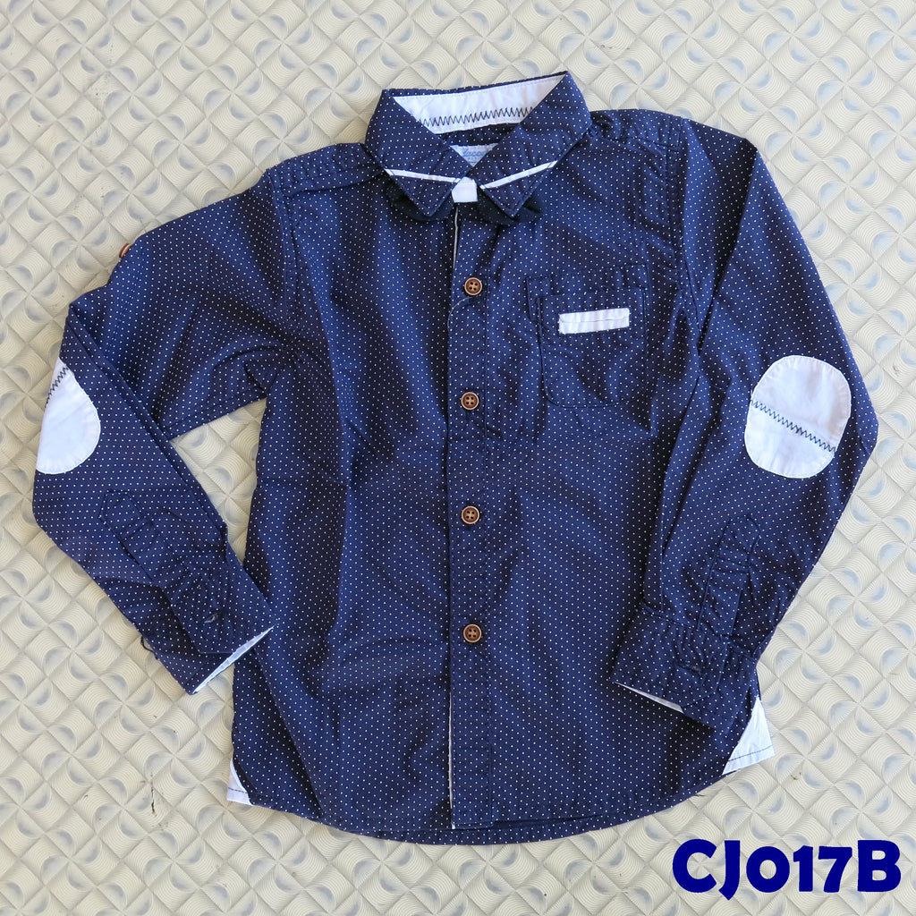 (CJ017B) Shirt - Long Sleeve Dark Blue