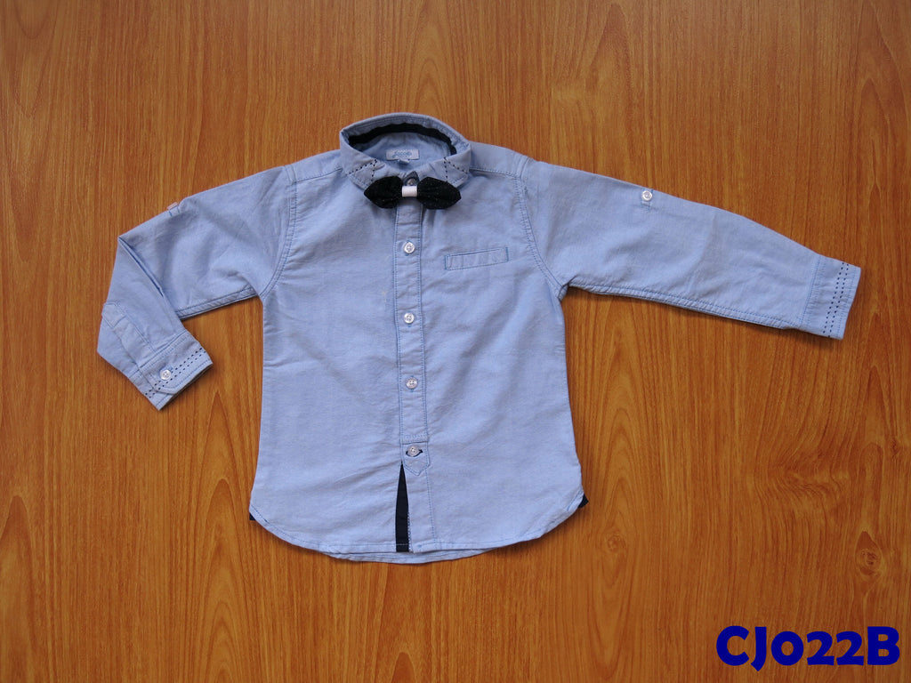(CJ022B) Long Sleeve Shirt - Blue