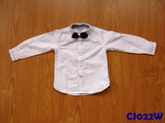 (CJ022W) Long Sleeve Shirt - White