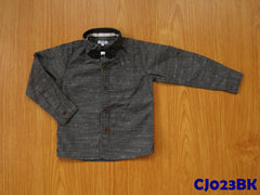 (CJ023BK) Long Sleeve Shirt - Black