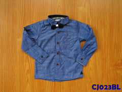 (CJ023BL) Long Sleeve Shirt - Blue