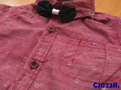 (CJ023R) Long Sleeve Shirt - Red