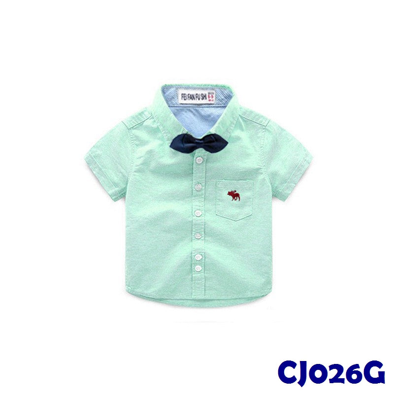 (CJ026G) Shirt - Ribbon Green
