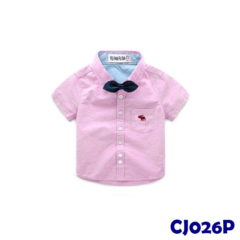 (CJ026P) Shirt - Ribbon Pink