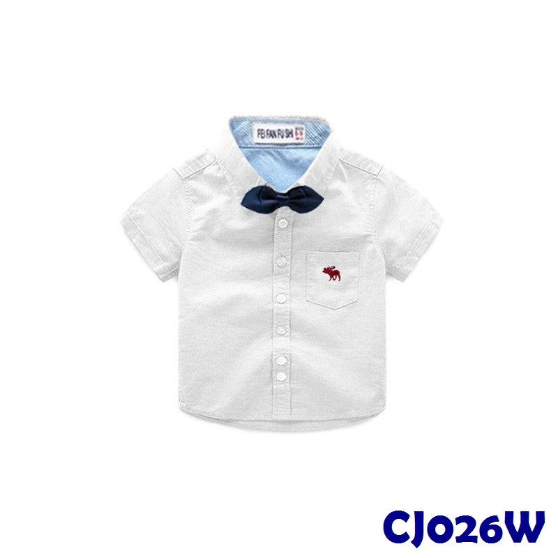 (CJ026W) Shirt - Ribbon White