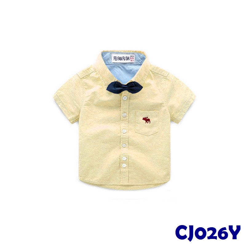 (CJ026Y) Shirt - Ribbon Yellow