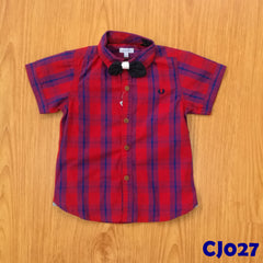 (CJ027) Shirt - Red Boxed