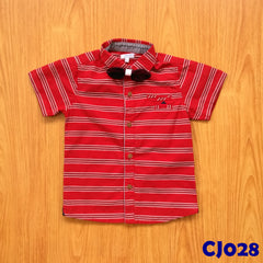 (CJ028) Shirt - Red Stripes