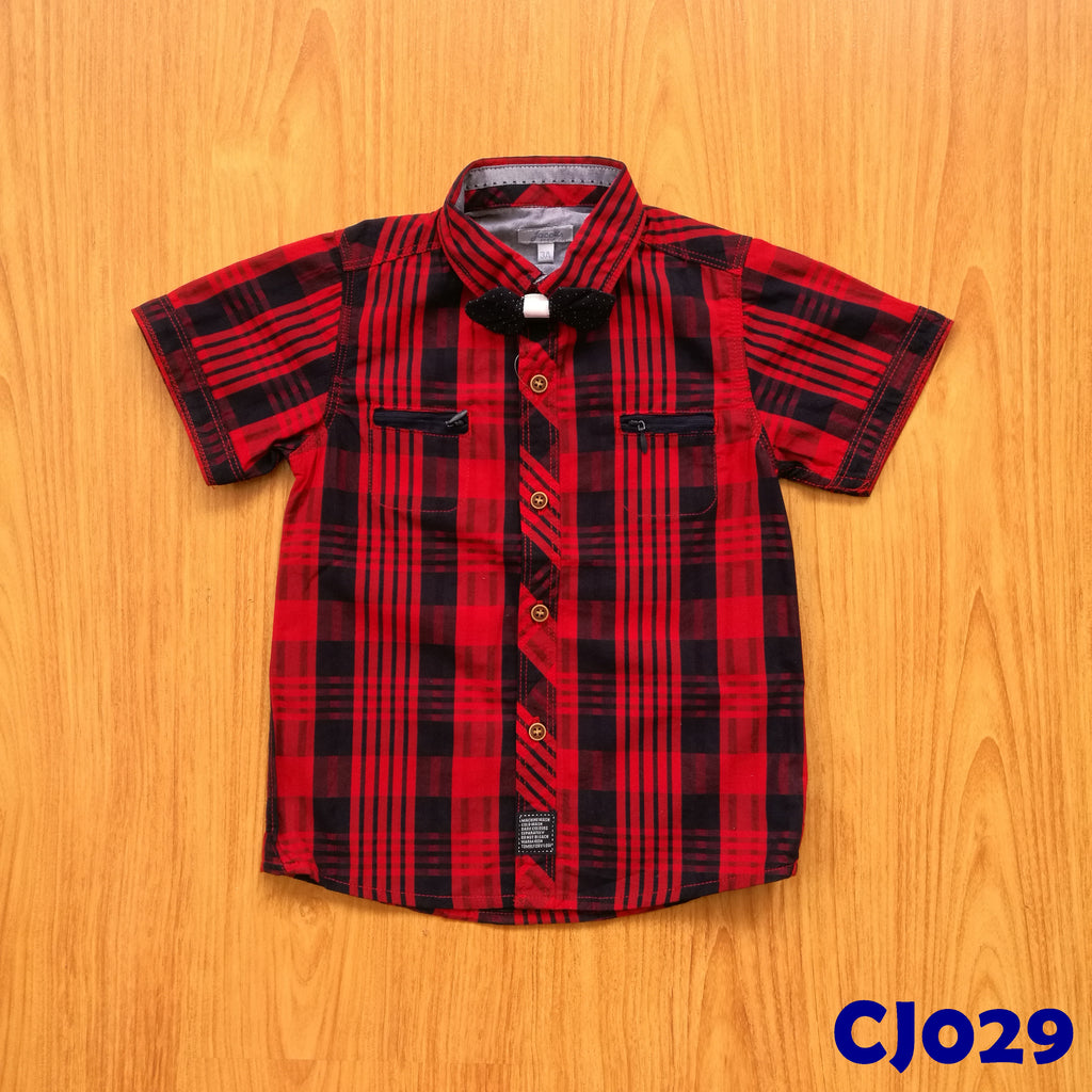 (CJ029) Shirt - Red