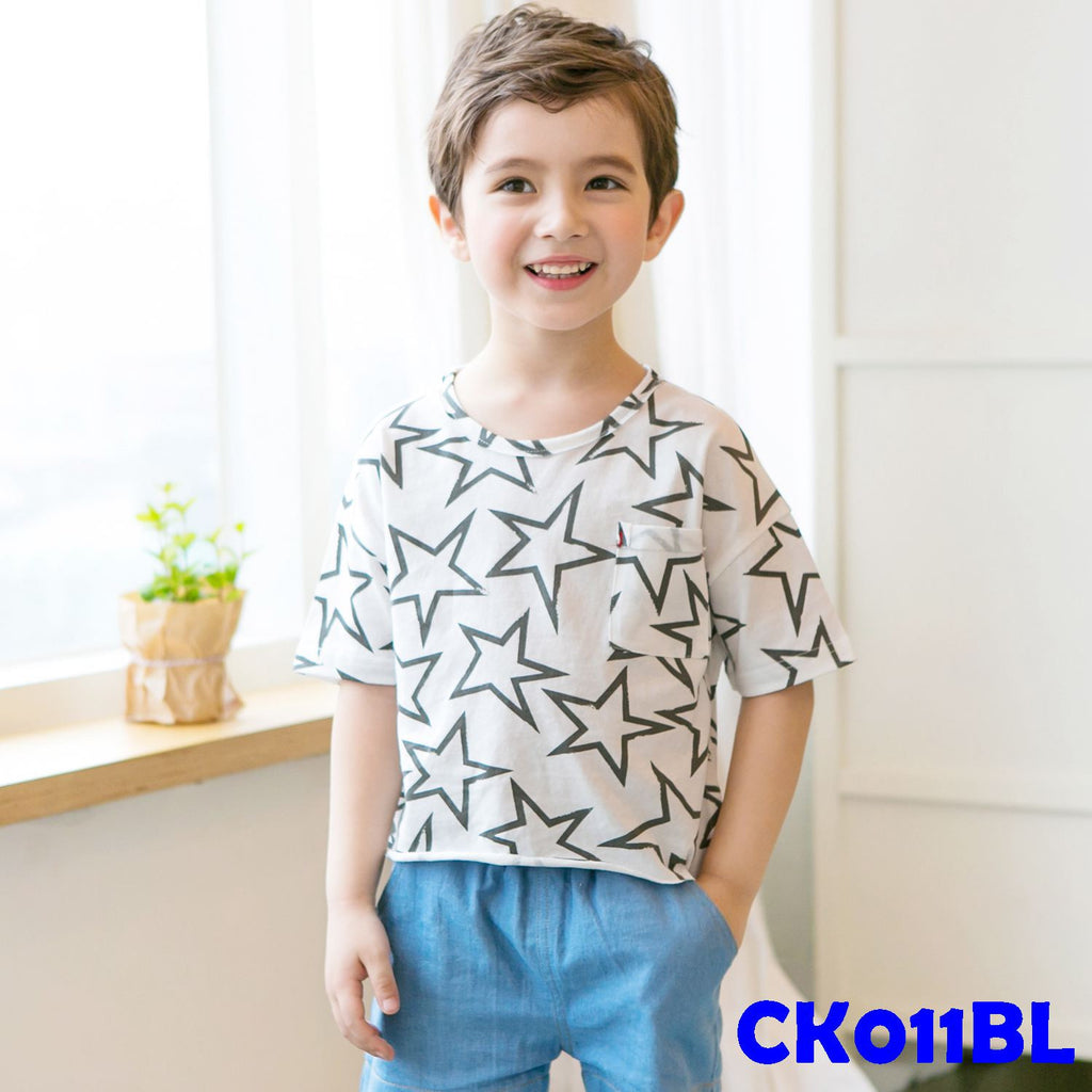 (CK011BL) T-shirt - Star Black