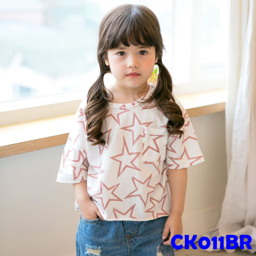(CK011BR) T-shirt - Star Brown