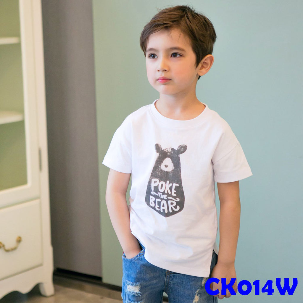 (CK014W) T-shirt - Bear White