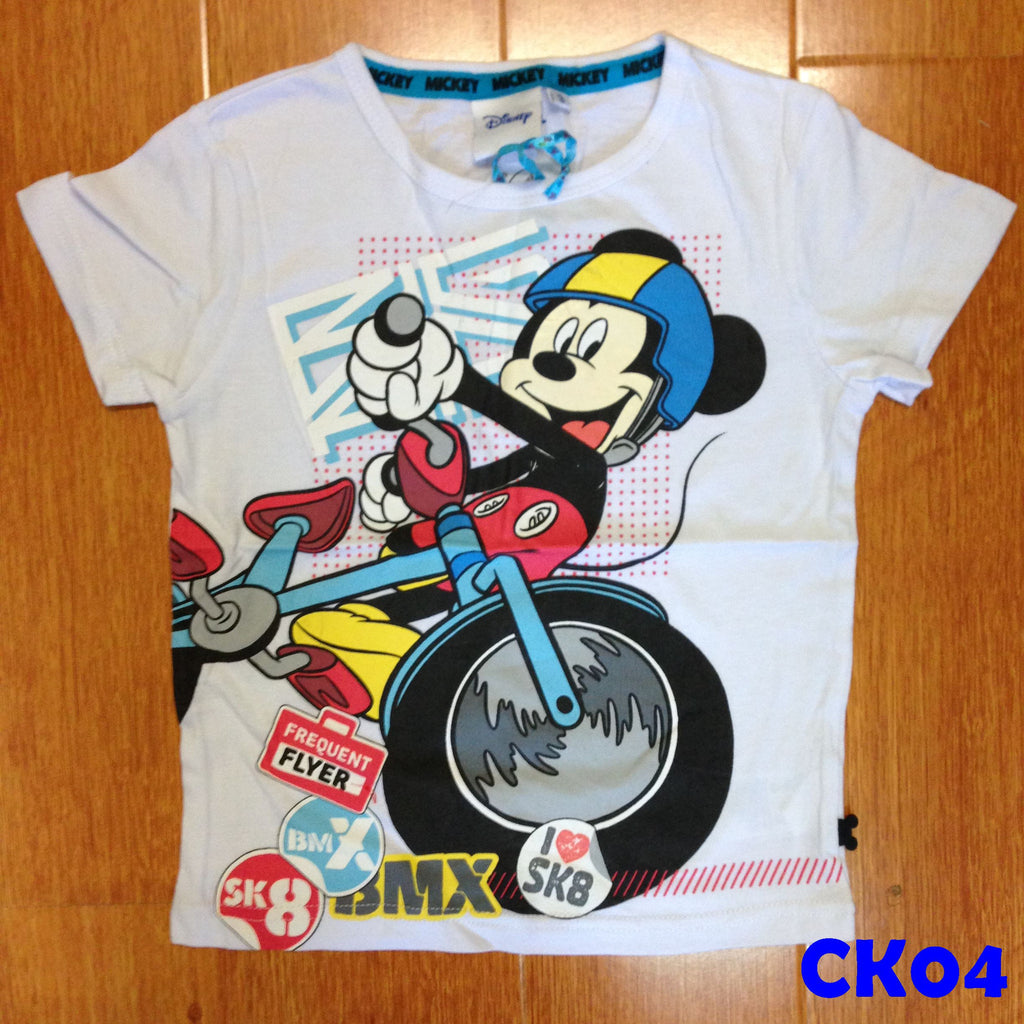 (CK04) T-shirt - Mickey White