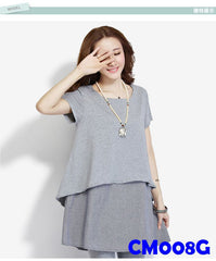 (CM008G) Maternity Dress - Grey