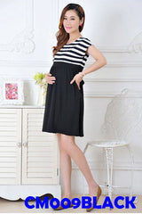(CM009BLACK) Maternity Dress - Black