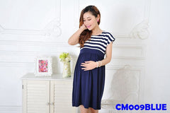 (CM009BLUE) Maternity Dress - Blue