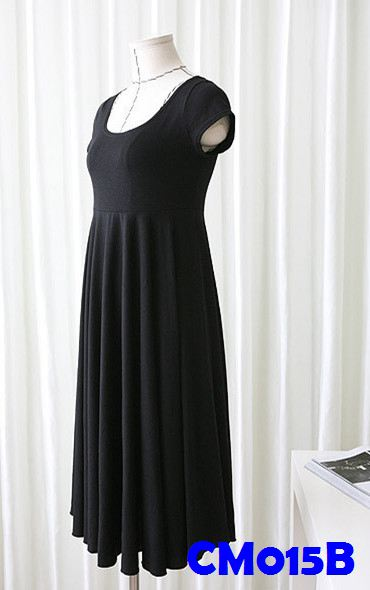 (CM015B) Maternity Dress - Black