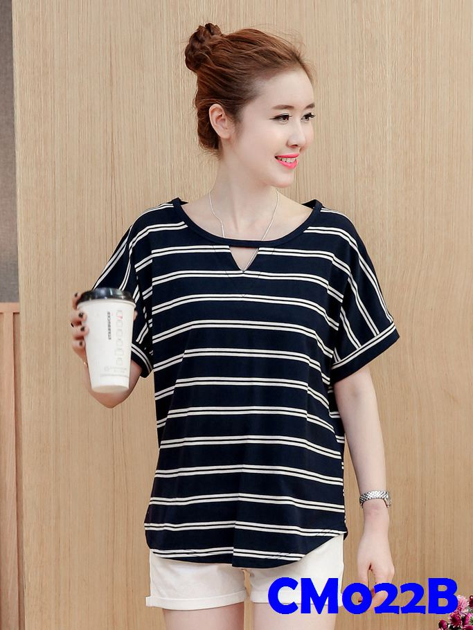 (CM022B) Maternity T-shirt - Black