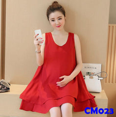 (CM023) Maternity Dress-Red