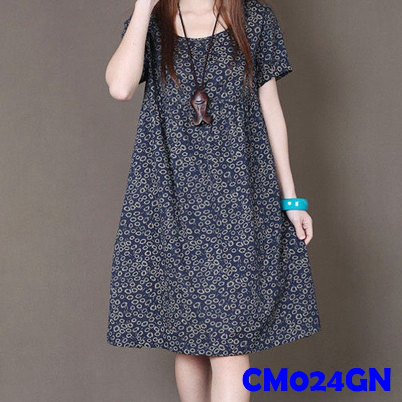 (CM024GN) Maternity Dress-Blue