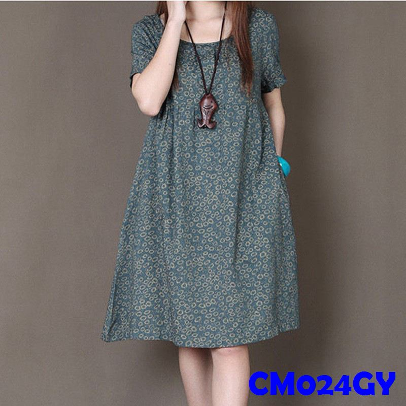 (CM024GY)Maternity Dress-Green
