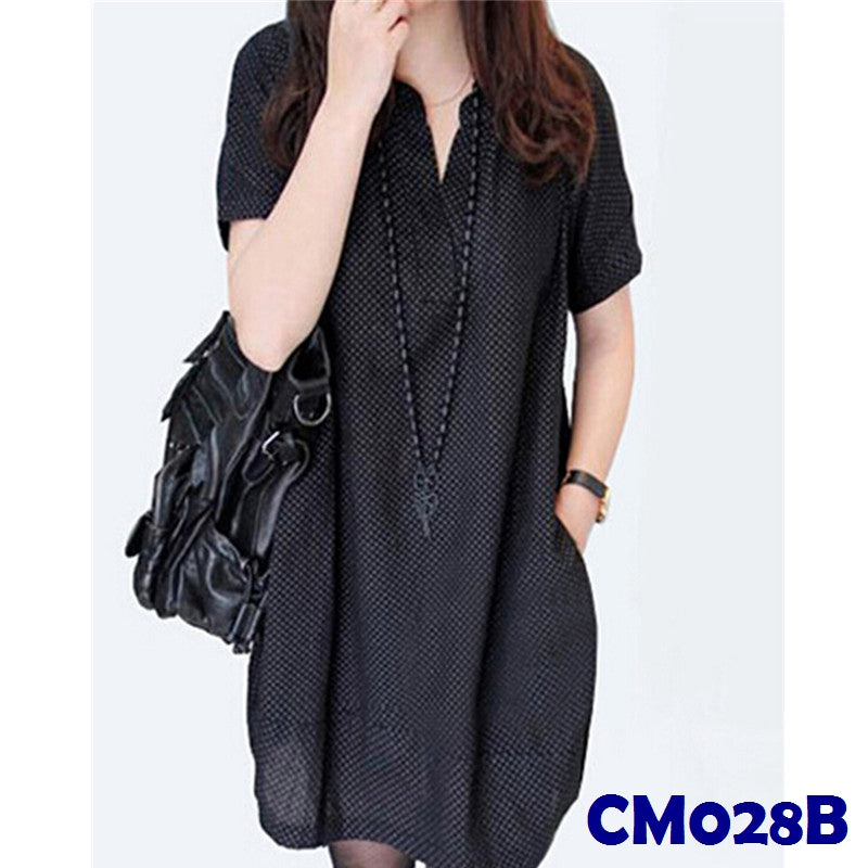 (CM028B) Maternity Dress- Black