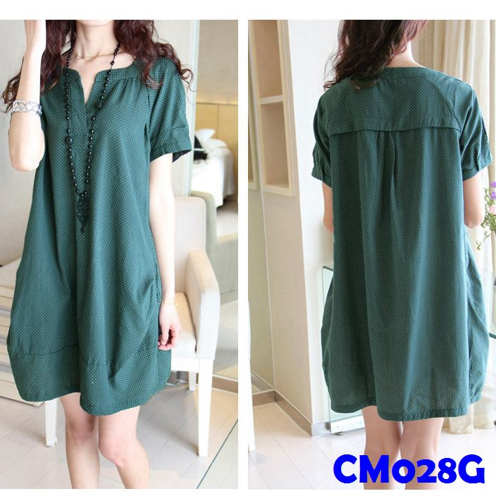(CM028G) Maternity Dress-Green