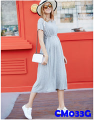 Maternity Maxi Dress Grey