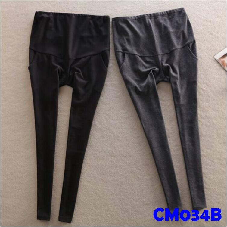 (CM034B) Leggings - Plus Size - Black