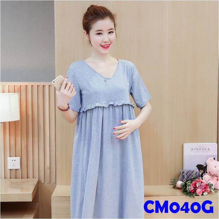 (CM040G) Maternity Dress - Grey