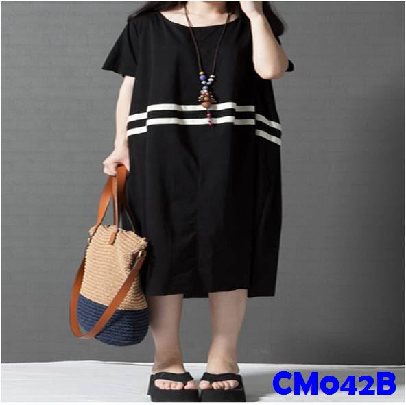 (CM042B) Maternity Dress - Black