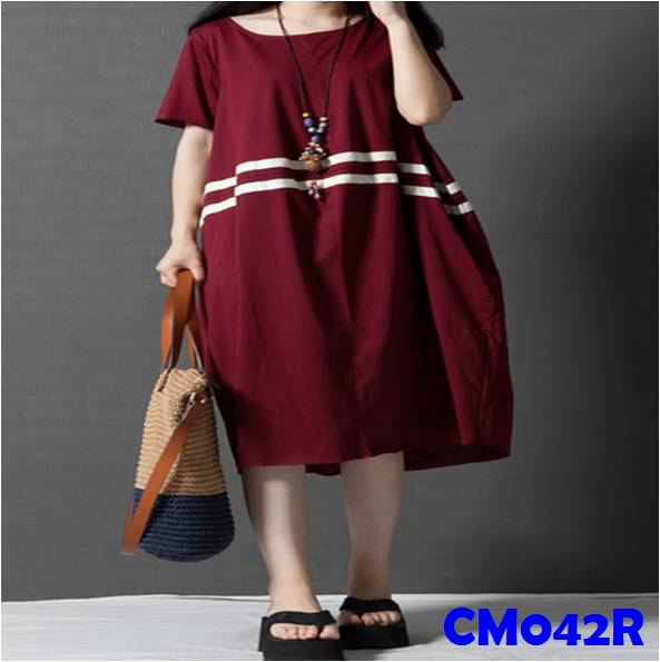(CM042R) Maternity Dress - Red