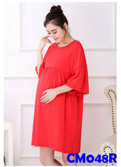 (CM048R) Maternity Dress - Plus Size