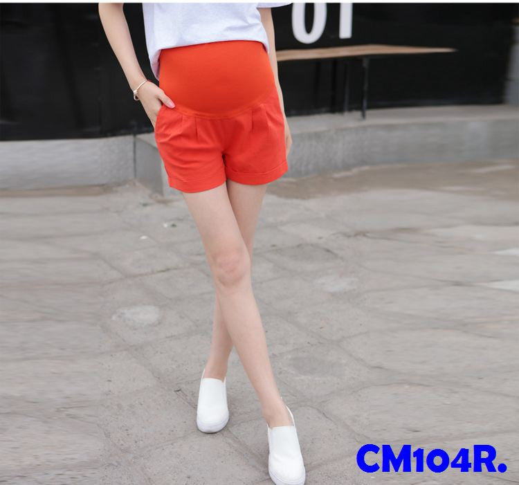 (CM104R) Maternity Pants - Red