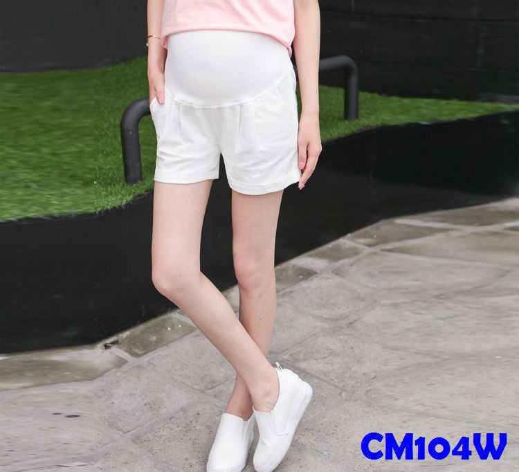(CM104W) Maternity Pants - White