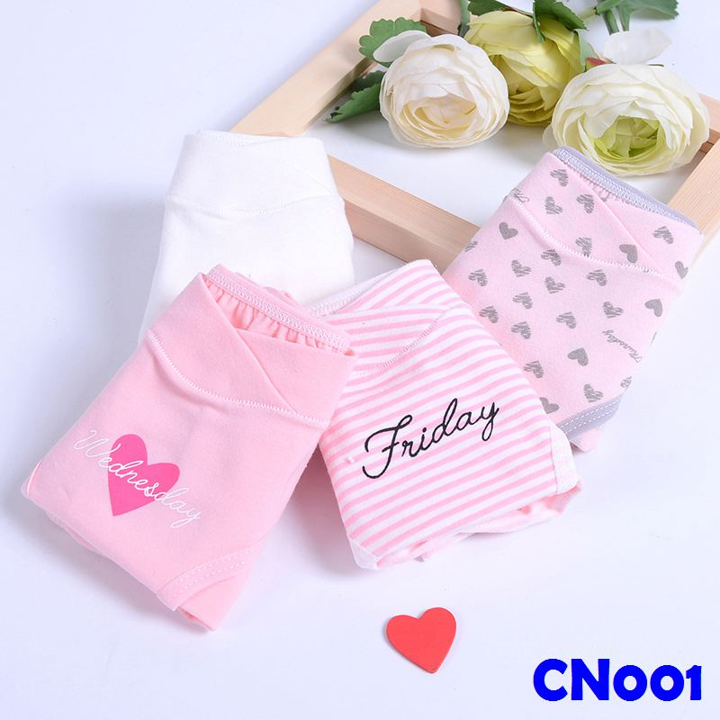 (CN001) Maternity Panties - Love 4pcs