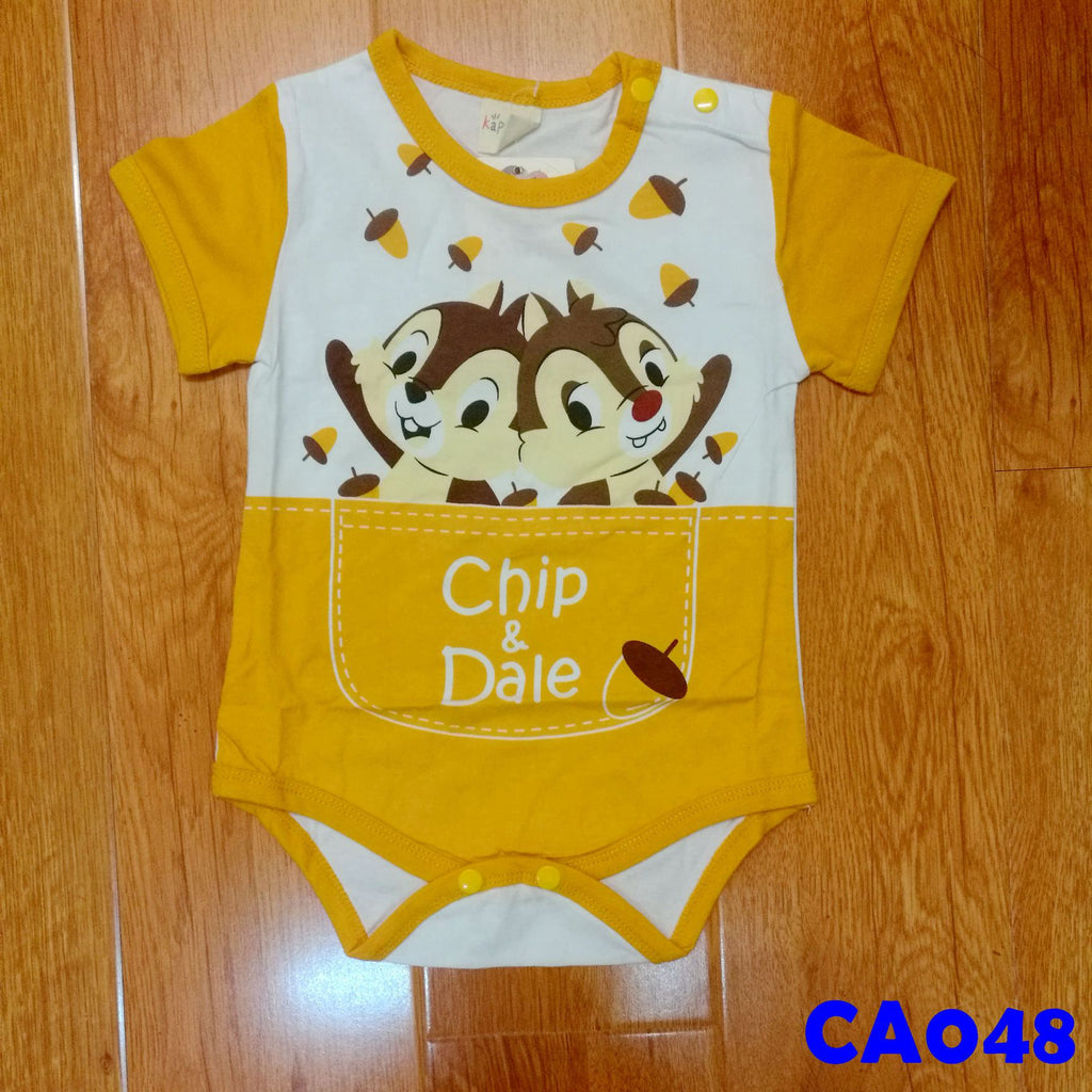 (CA048) Romper - Chip and Dale