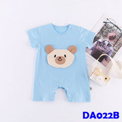 (DA022B) Baby Rompers - Bear (Blue)