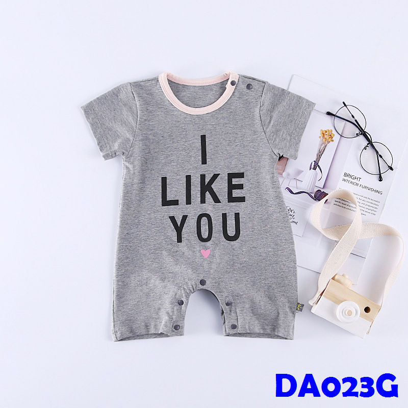 (DA023G) Baby Rompers - I like you