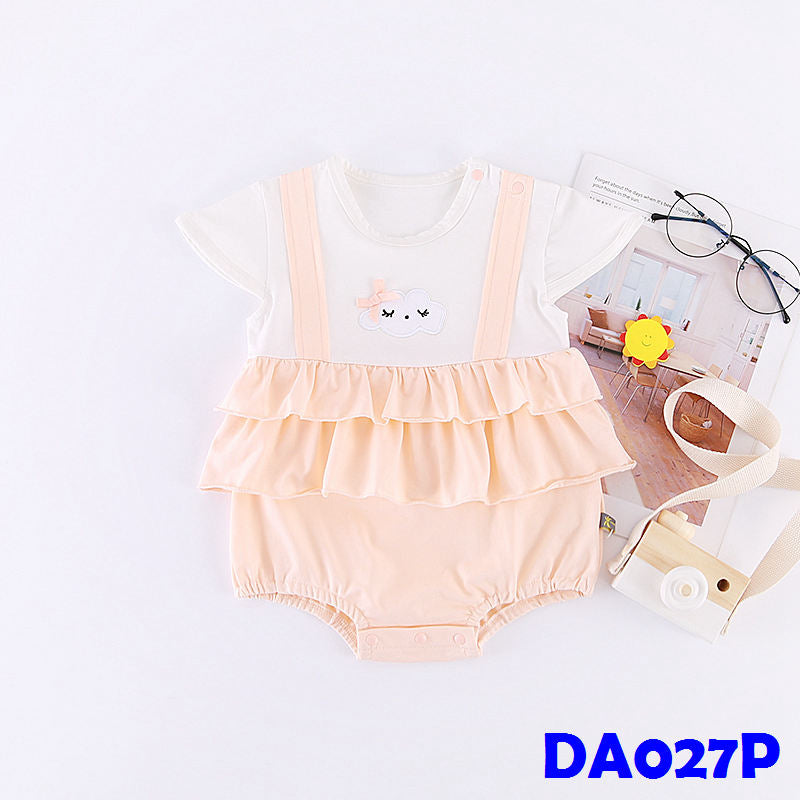 (DA027P) Baby Girl Romper - Cloud Pink