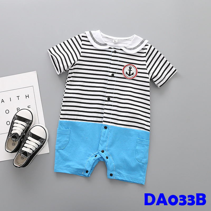 (DA033B) Baby romper - Sailor Black