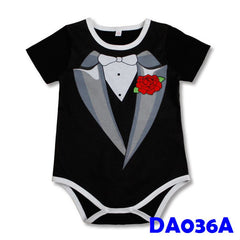 (DA036A) Baby Rompers - Gentleman Black