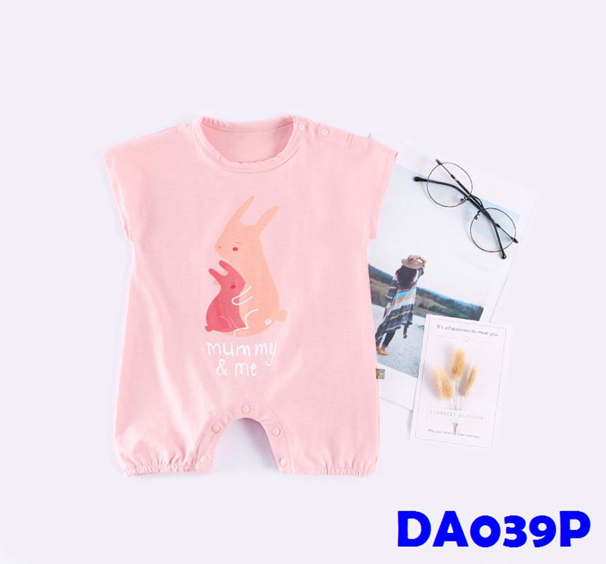 (DA039P) Baby rompers - Rabbit (Pink)