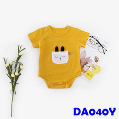 (DA040Y) Baby Rompers - Bear (Yellow)