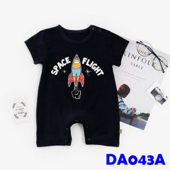 (DA043A) Baby Rompers - Space Flight
